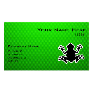 Green Frog Business Card Template
