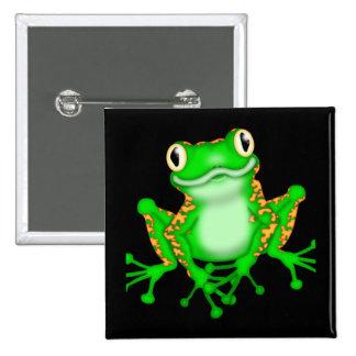 Green Frog Pin
