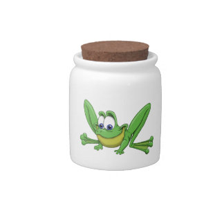 GREEN FROG CANDY DISH