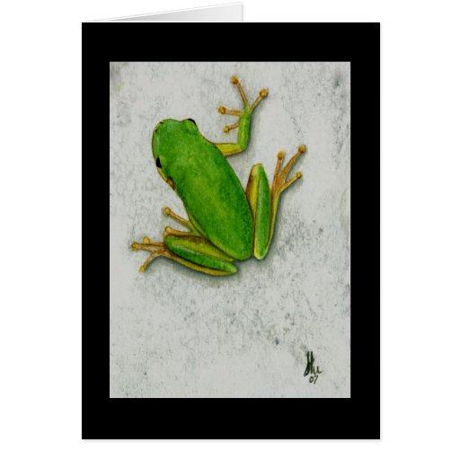 Green Frog Card