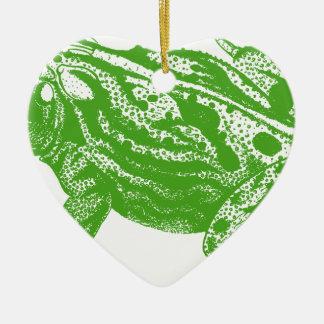 Green Frog Ceramic Ornament