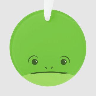 Green Frog Cute Animal Face Design