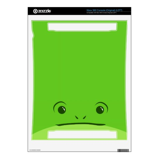 Green Frog Cute Animal Face Design Decals For Xbox 360