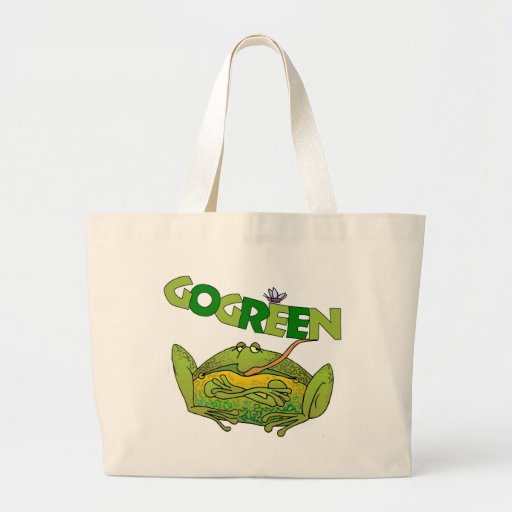 Green Frog Ecology Gift Canvas Bags