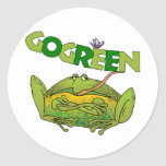 Green Frog Ecology Gift Classic Round Sticker