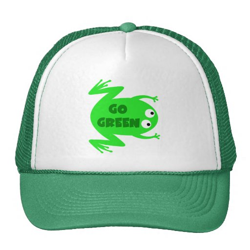 Green Frog Ecology Gift Hat