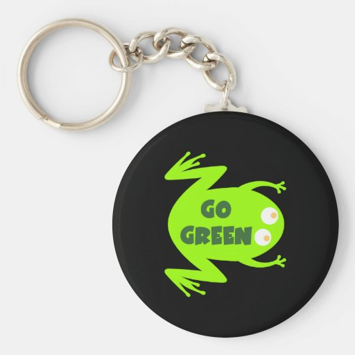 Green Frog Ecology Gift Keychain