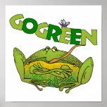 Green Frog Ecology Gift Print