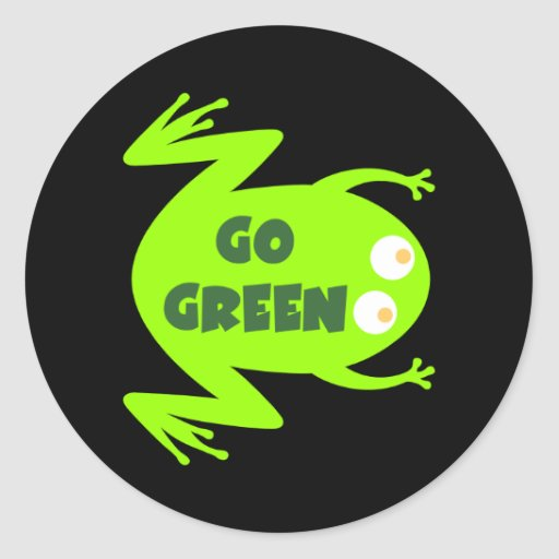 Green Frog Ecology Gift Round Sticker