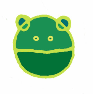 Green frog face acrylic cut out
