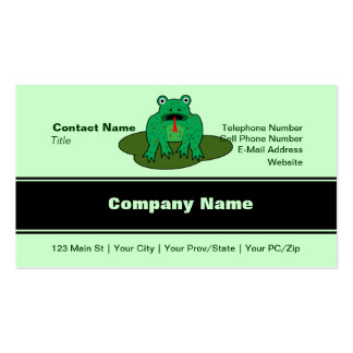Green Frog - Frog Get About It Business Card