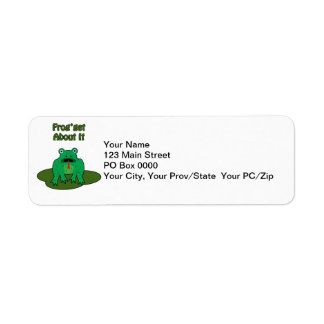 Green Frog - Frog Get About It Label