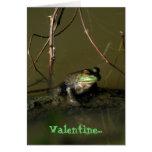 Green Frog Funny Valentine Card