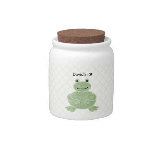 Green Frog Gift Jar For Boys Personalized Baby Gif Candy Jar