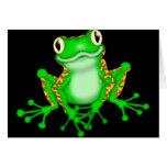 Green Frog Greeting Card