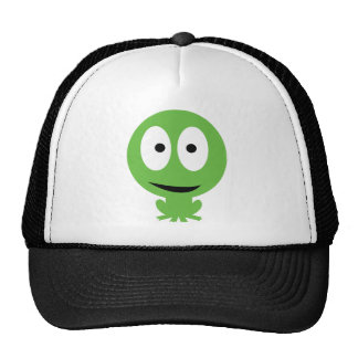 green frog icon trucker hat