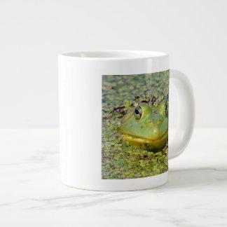 Green frog in duckweed, Canada Giant Coffee Mug