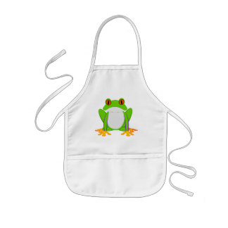 Green Frog Kids' Apron