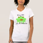 Green Frog Kiss Me I'm A Princess Tshirts