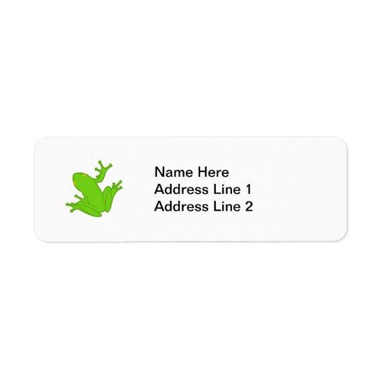 Green Frog Label