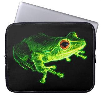 Green Frog Laptop Computer Sleeves