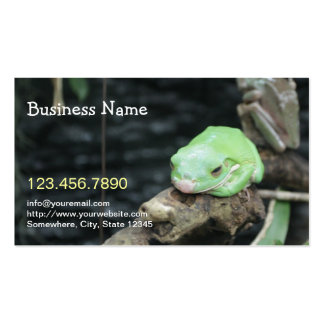 Green Frog Live Reptile Business Cards