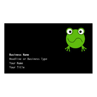 Green Frog. Looking confused. Double-Sided Standard Business Cards (Pack Of 100)