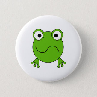 Green Frog. Looking confused. Button