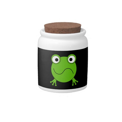 Green Frog. Looking confused. Candy Dish