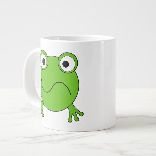 Green Frog. Looking confused. Giant Coffee Mug