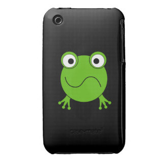 Green Frog. Looking confused. iPhone 3 Case