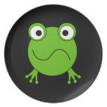 Green Frog. Looking confused. Party Plates