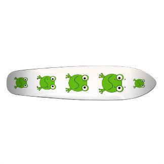 Green Frog. Looking confused. Skateboard Deck