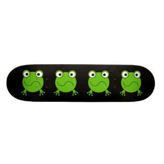 Green Frog. Looking confused. Custom Skateboard