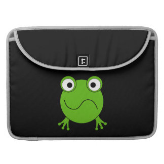Green Frog. Looking confused. Sleeve For MacBooks