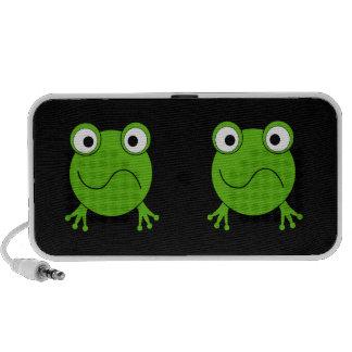 Green Frog. Looking confused. Speaker System