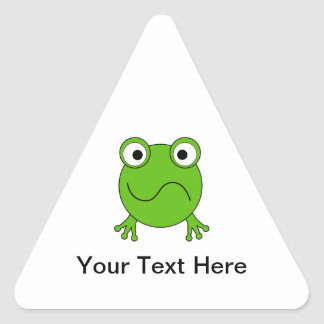 Green Frog. Looking confused. Sticker