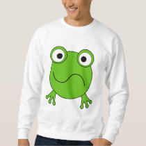 Green Frog. Looking confused. Sweatshirt