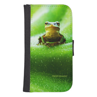 Green Frog Macro Phone Case Galaxy S4 Wallets