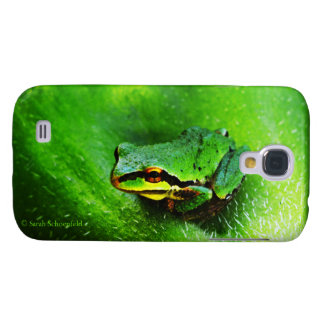 Green Frog Macro Phone Case Horizontal Samsung Galaxy S4 Cases
