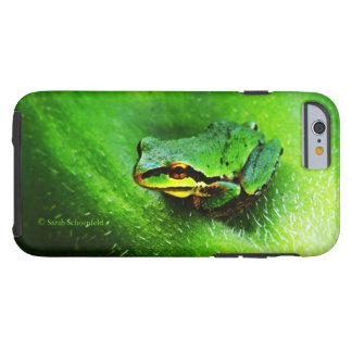 Green Frog Macro Phone Case Horizontal Tough iPhone 6 Case