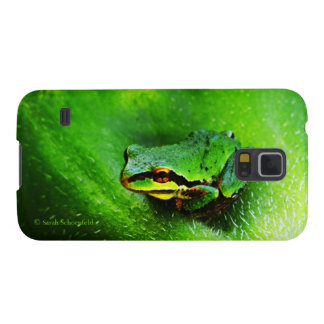 Green Frog Macro Phone Case Horizontal Cases For Galaxy S5