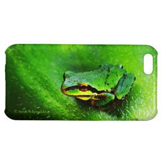 Green Frog Macro Phone Case Horizontal