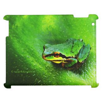 Green Frog Macro Phone Case Horizontal iPad Cover