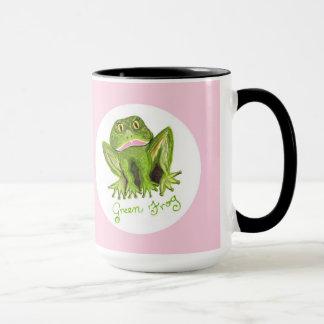 green frog mug