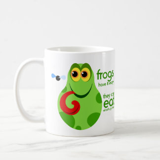Green Frog Mug With Funny Froggie Quote
