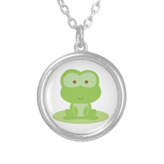 Green Frog Personalized Necklace