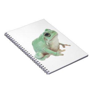 "Green Frog Notebook 6.5x8.75"""