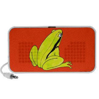 Green frog notebook speakers