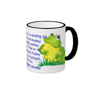 Green Frog Nursery Rhyme Mug